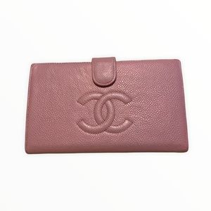 Chanel Wallet   Chanel Pink Wallet Caviar Leather